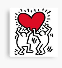 Keith Haring Love Canvas Print