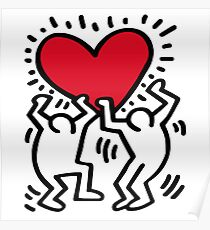 Keith Haring Love Poster