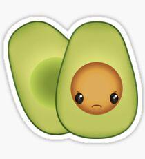 Grumpy Avocado Sticker