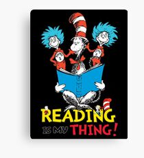 Read Across America - Reading is my Thing Canvas Print