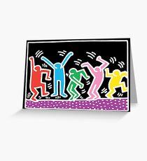 Keith Haring Dance Greeting Card