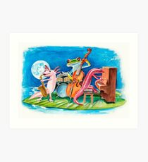 Salamander Ball Jazz Band Art Print