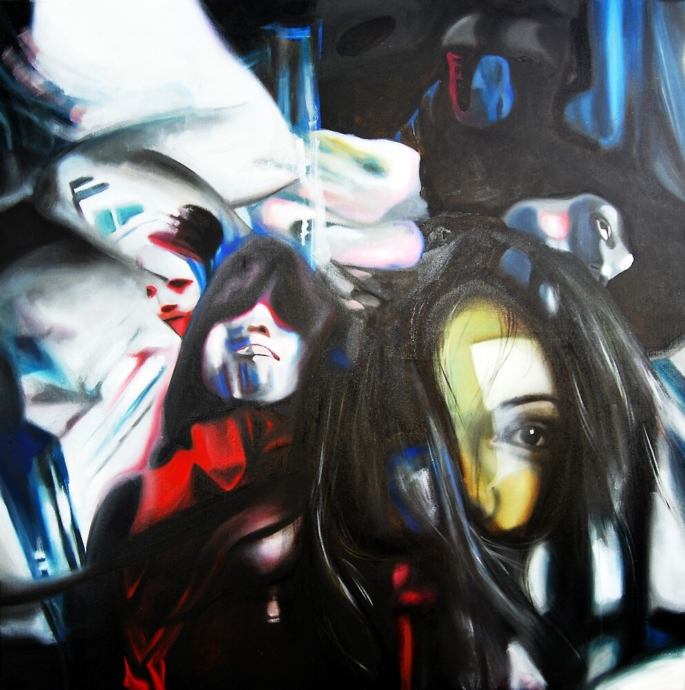 Supersonic life, 2013, 100-100cm, oil on canvas by oanaunciuleanu