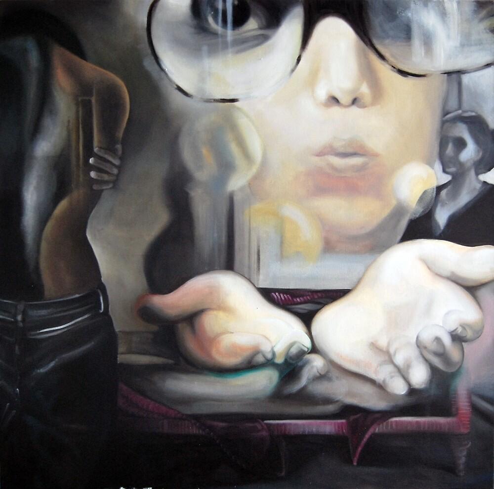 Wind of change, 2013, 100-100cm, oil on canvas by oanaunciuleanu