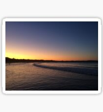 Orange Sunset, Agnes Water Beach, Qld, Aus Sticker