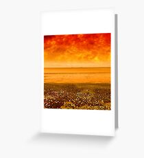 Fire Beach Greeting Card