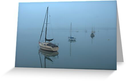 Mist across the Bay by Kerry  Hill