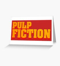 Pulp fiction title Greeting Card