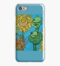 3 green frogs iPhone Case/Skin