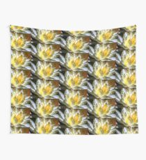 White waterlily (Nymphaea odorata rosea) Wall Tapestry