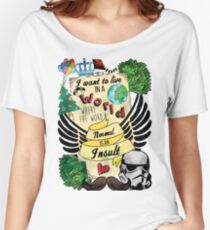 I Want to Live in a World Where the Word Normal is an Insult Women's Relaxed Fit T-Shirt