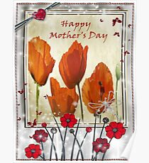 Mothers Day - poppies  Poster