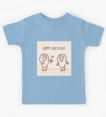 Sheep happy birthday card Kids Tee
