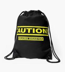 Caution! Walking Disaster Drawstring Bag