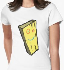 Ed, Edd N Eddy Plank Design  Women's Fitted T-Shirt