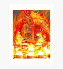 Sunbird on Vajra Art Print