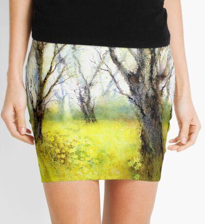 Carpets of Gold (Original painting sold) Mini Skirt