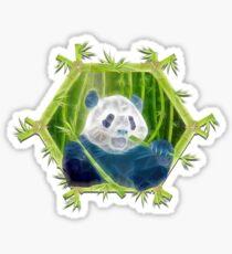 Pegatina panda abstracto