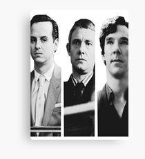 Sherlock - Jim Moriarty, John Watson, Sherlock Holmes Canvas Print