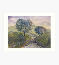 Evening Stroll in Millington Dale Art Print