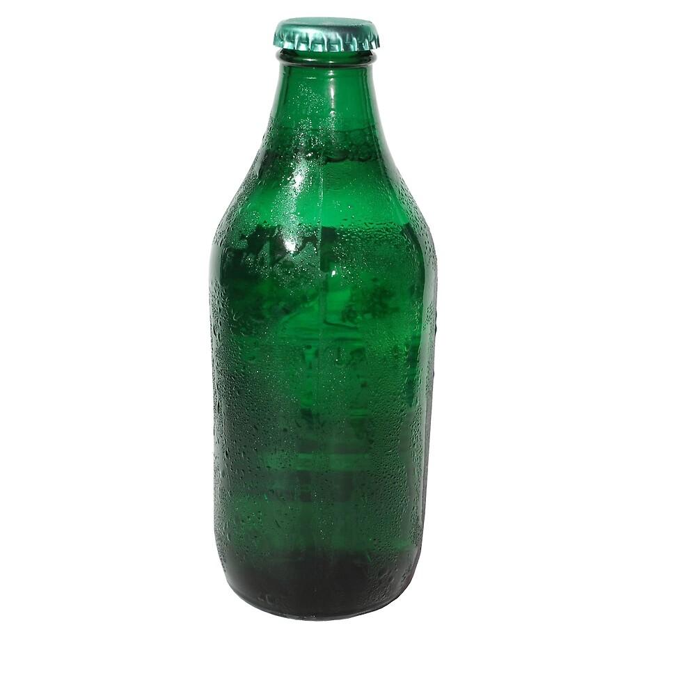 Isolated Green Beer Bottle by jojobob