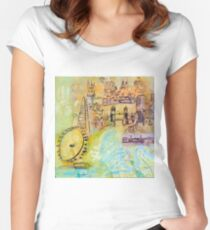 London: Thames Women's Fitted Scoop T-Shirt