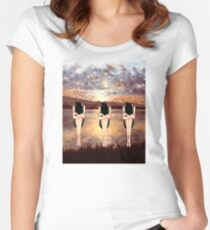CONTEMPLATING THE SUNSET Women's Fitted Scoop T-Shirt