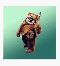 Jittery Little Thing - Low Poly Ewok Photographic Print