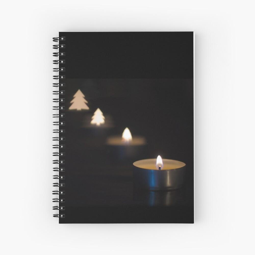 X-mas candle Spiral Notebook
