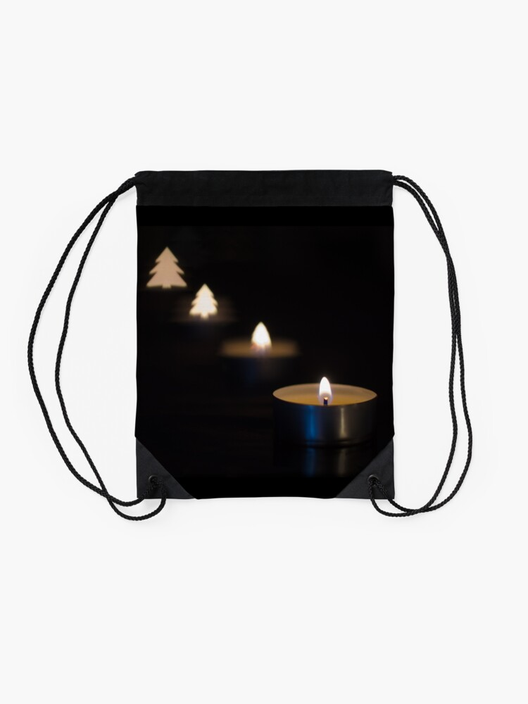 Alternate view of X-mas candle Drawstring Bag