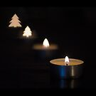 X-mas candle by Dave Riganelli