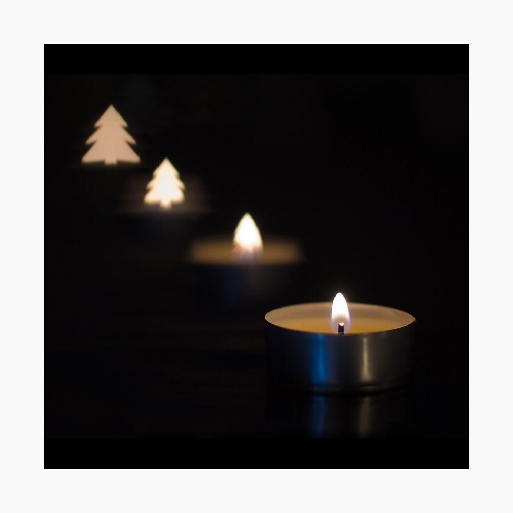 X-mas candle Photographic Print