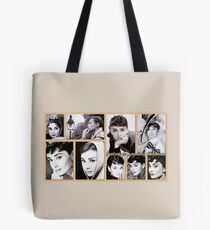 Tribute to Audrey  Tote Bag
