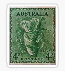 """1937 Australia Koala Stamp"" Sticker"