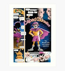 The Caped Counsellor - comic strip Art Print