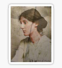 Virginia Woolf - texture Sticker