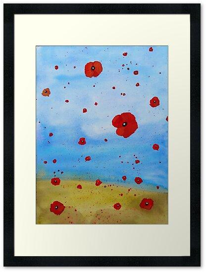 floating poppies by Davida Fernandez