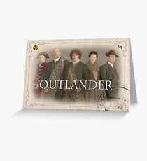Outlander cast stamp Greeting Card