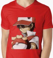 PKMN TRAINER RED Mens V-Neck T-Shirt