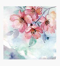 Lámina fotográfica Watercolor Flowers