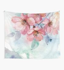 Watercolor Flowers Wall Tapestry