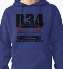 Nissan Skyline R34 Transparent Version Pullover Hoodie