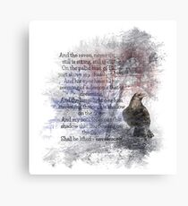 Edgar Allan Poe Poem The Raven Canvas Print