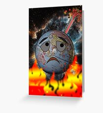 Earth and global warming Greeting Card