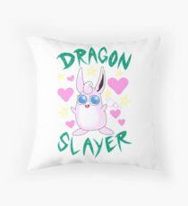 Wigglytuff --- DRAGON SLAYER Throw Pillow