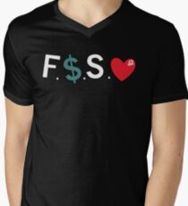 Official Fuck Money Spread Love - J.cole Men's V-Neck T-Shirt