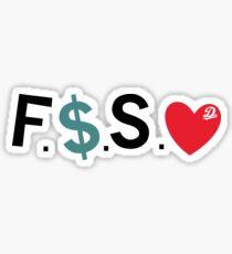 Official Fuck Money Spread Love - J.cole (Black) Sticker