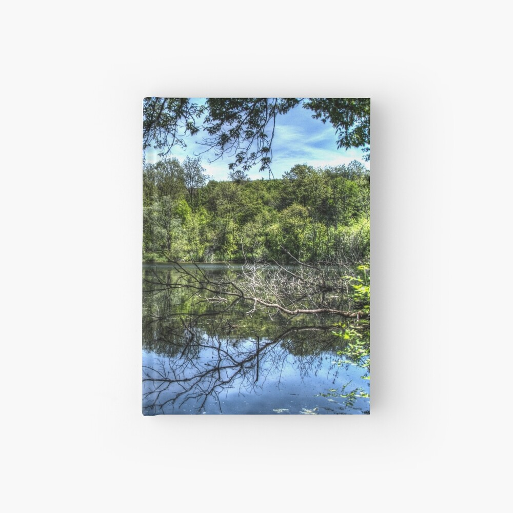 Reflected trees Hardcover Journal