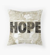 """Hope"" by Manchester Orchestra Throw Pillow"