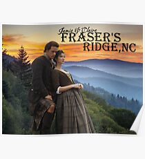 Outlander/Jamie & Claire on Fraser's Ridge. Poster